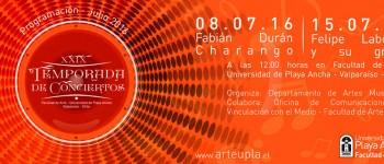 Concierto de charangos en la Facultad de Arte UPLA