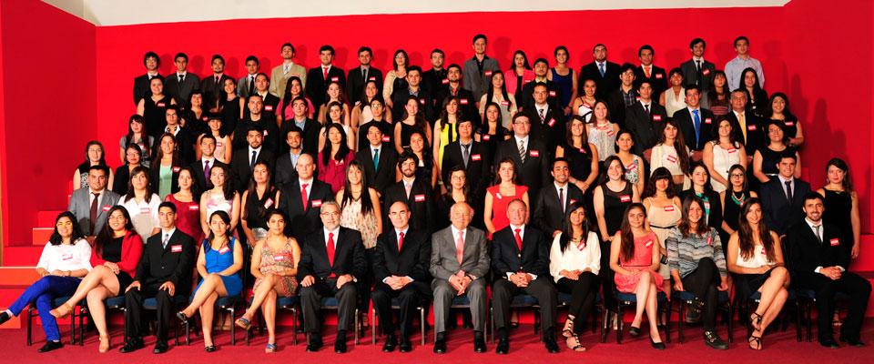 Becados programa Santander Universidades