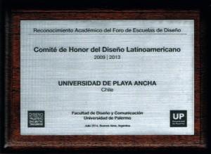 Disitnción recibida por la UPLA