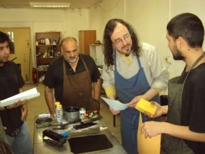 Edwin Rojas, Jorge Martínez y Esteban Cancino