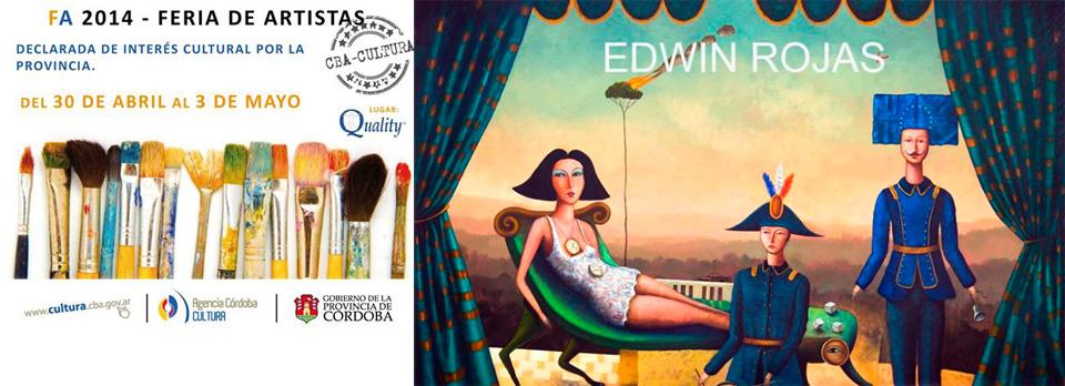 Artista visual Edwin Rojas expone obra en Argentina