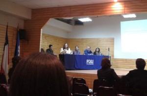 Panelistas coloquio sobre inclusión