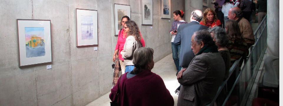 Inauguran exposición de acuarelas en galería CreaArte de la Upla