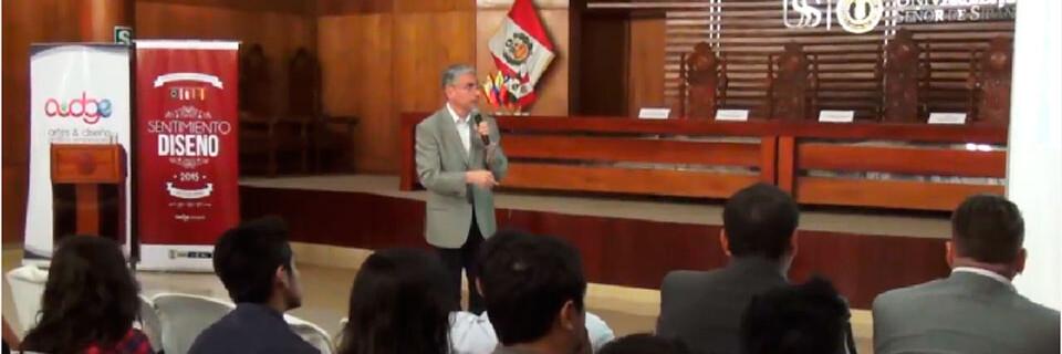 Guido Olivares expuso en jornada de diseño realizada en Perú