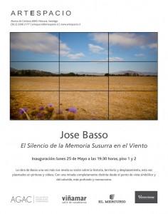 Afiche exposición de José Basso en Galería Artespacio