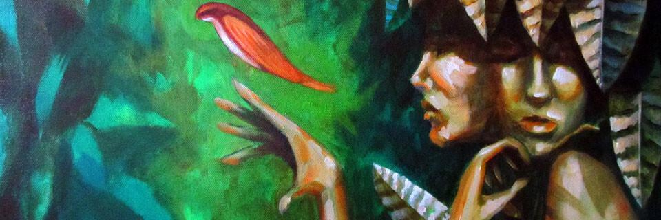 Álvaro Miranda expone pinturas en galería Bahía Utópica de Valparaíso
