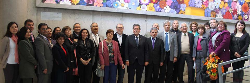 Mural colectivo se inauguró en Biblioteca Central UPLA