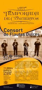 Afiche Consort de Flautas UPLA