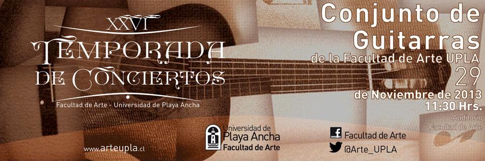 Conjunto de Guitarras cerrará la Temporada de Conciertos UPLA 2013