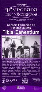 """Afiche Consort Femenino """"Tibia Canentium"""""""