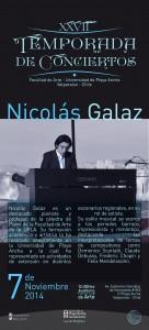 Afiche concierto Nicolás Galaz