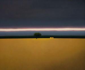 """Pintura """"Nube Negra en el Paisaje"""""""