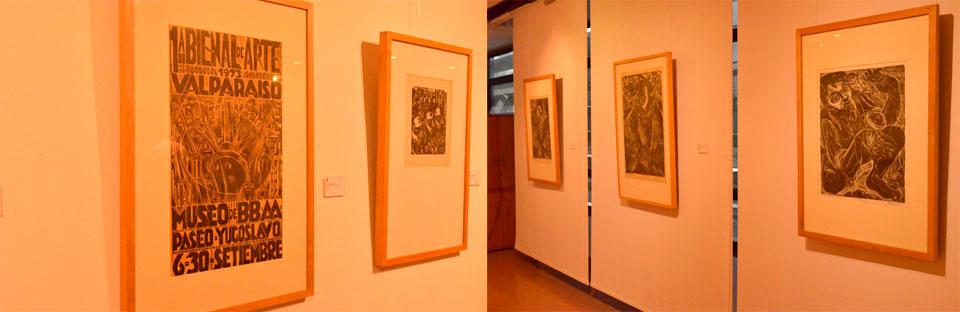 Grabados de Carlos Hermosilla y Marina Pinto se exhiben en Sala Viña del Mar