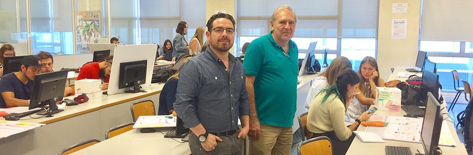 Docente de Diseño Gráfico UPLA realizó pasantía de un mes en España