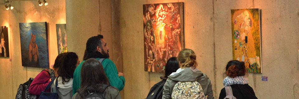 En Galería Crearte se inauguró exposición de estudiantes de Artes Plásticas