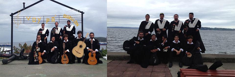 Tuna de la Facultad de Arte realizó gira de instrucción en el sur de Chile