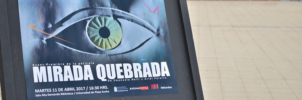 """Con la película """"Mirada Quebrada"""" se inició taller Imaginario de la carrera de Diseño"""