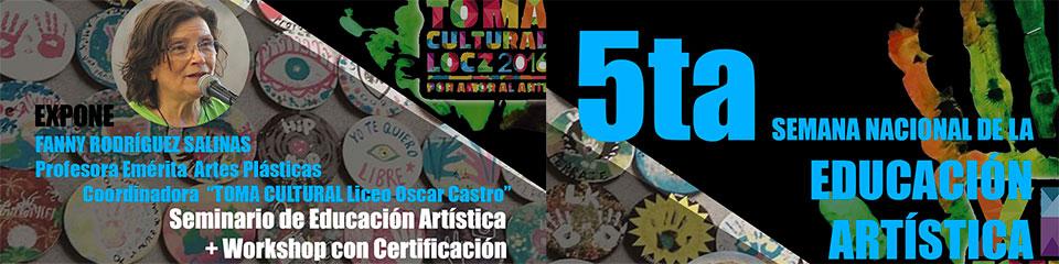 Seminario y workshop de educación artística se realizará en la Facultad de Arte