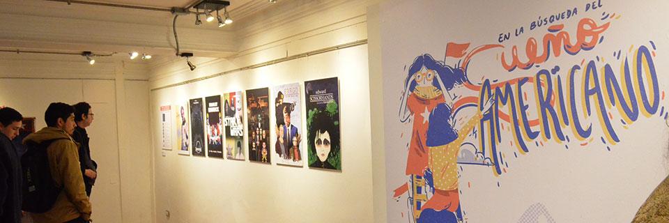 Carrera de Diseño UPLA expone obras en el Chileno Norteamericano