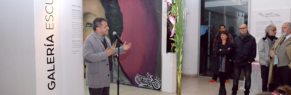 Estudiantes de Licenciatura en Arte UPLA intervienen galería del Centex