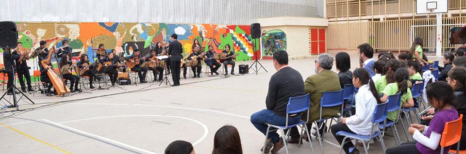 Colegio de Quillota disfrutó concierto de Ensamble Abya Yala