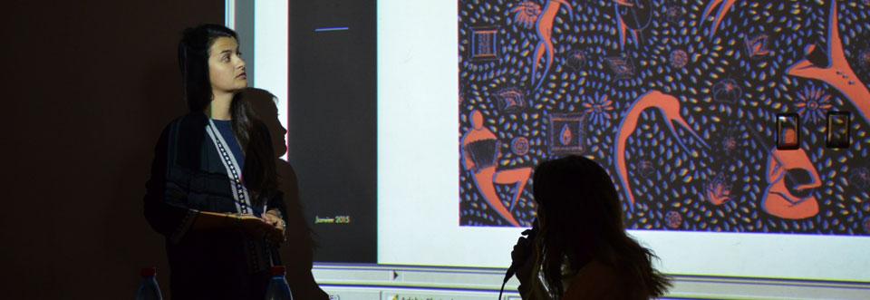 Artista visual Cécile Aurégan dictó charla en la UPLA