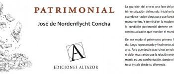 "José de Nordenflycht lanzó libro ""Patrimonial"" en Sala Puntángeles"
