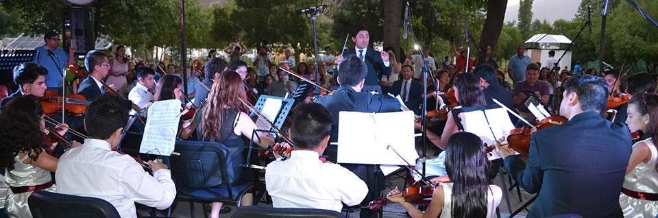 Emotivo concierto de Navidad ofreció la Orquesta de Cámara UPLA en Calle Larga