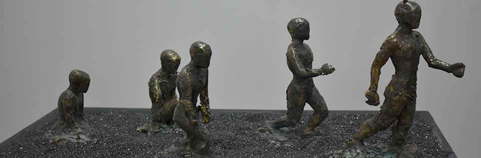 Esculturas de artistas UPLA se exhiben en Sala Puntángeles