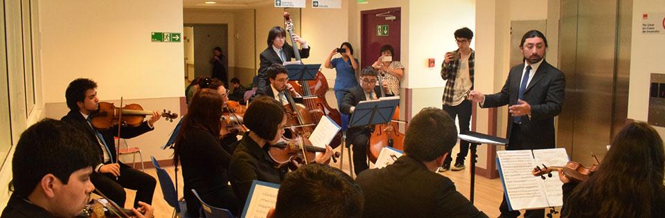 Orquesta de Cámara de la UPLA efectuó magistral presentación en Hospital de Puerto Aysén