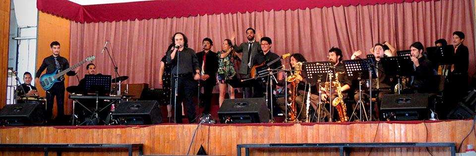 Big Band UPLA se lució en VIII Encuentro de la Red Universitaria IntegrArte