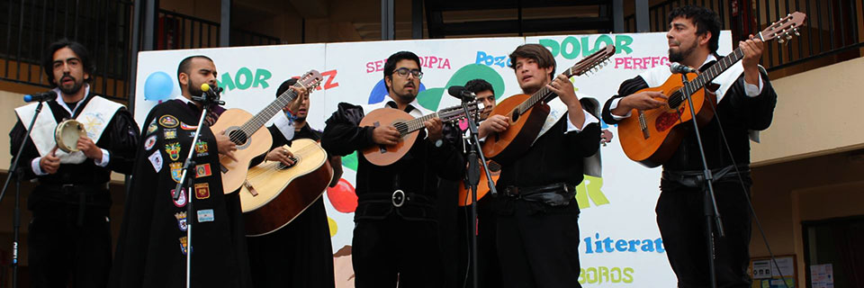 Tuna de la Facultad de Arte se presentó en aniversario de colegio villalemanino