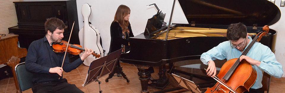 Trío Pléyades dio concierto en la Facultad de Arte UPLA