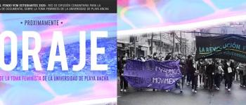 """""""Coraje"""" documental que narra movilización feminista de la UPLA"""