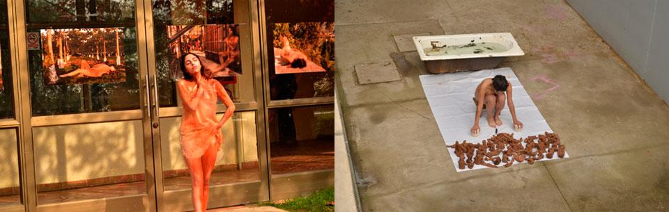 Muestras de performance, instalación y gráfica se realizaron en la Facultad de Arte