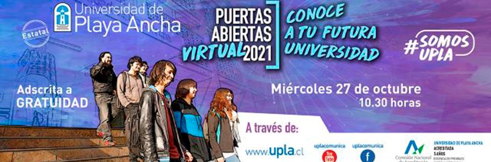 Universidad de Playa Ancha invita a jornada de Puertas Abiertas Virtual 2021