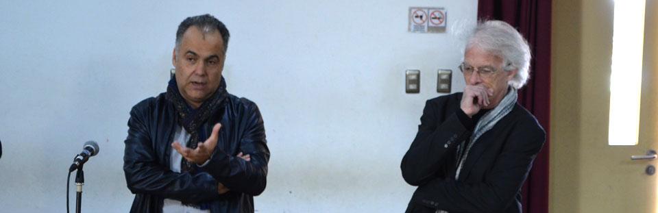 Guitarristas Giorgio Albiani y Omar Cyrulnic dialogaron con estudiantes UPLA