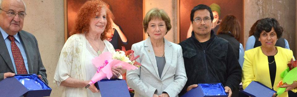Reconocen trayectoria de docentes de la Facultad de Arte UPLA