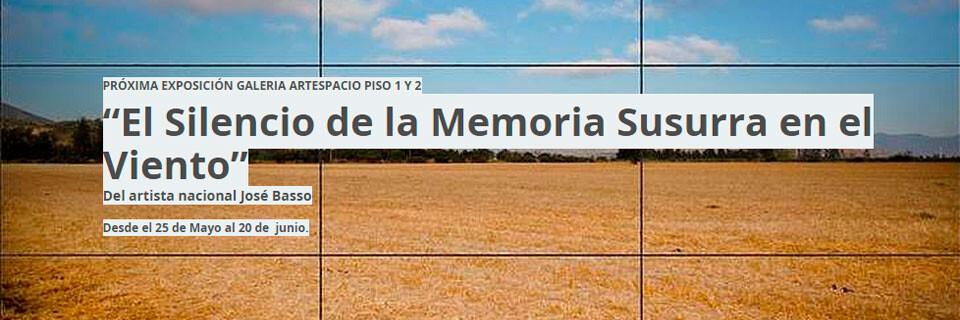 Exposición de José Basso se inaugura en Galería Artespacio de Santiago
