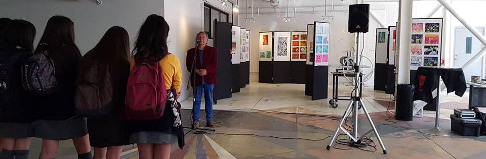 Estudiantes de Licenciatura en Arte participaron en homenaje a Nemesio Antúnez