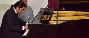 Didáctico recital ofreció pianista Nicolás Galaz en Temporada de Conciertos UPLA