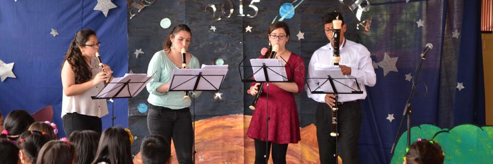 """""""Ventus ad Libitum"""" dio concierto en colegio San Luis de Cerro Alegre"""