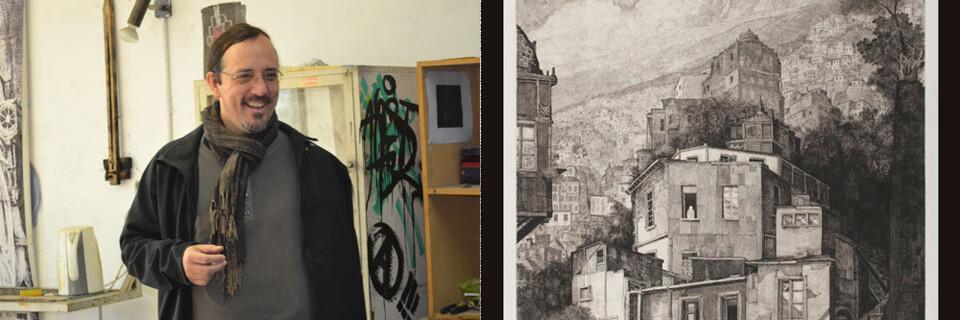Artista Jorge Martínez expone en Galería Municipal de Arte Valparaíso