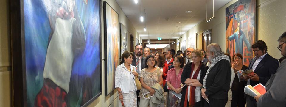 Representantes UPLA en Colección de Arte del Congreso Nacional