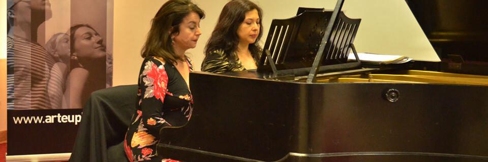 Música latinoamericana y europea presentó Dúo de Piano en Temporada de Concierto