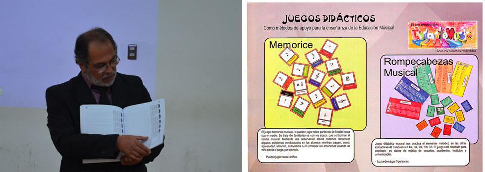 Académico presenta novedoso material de música y juegos didácticos en la Facultad de Arte