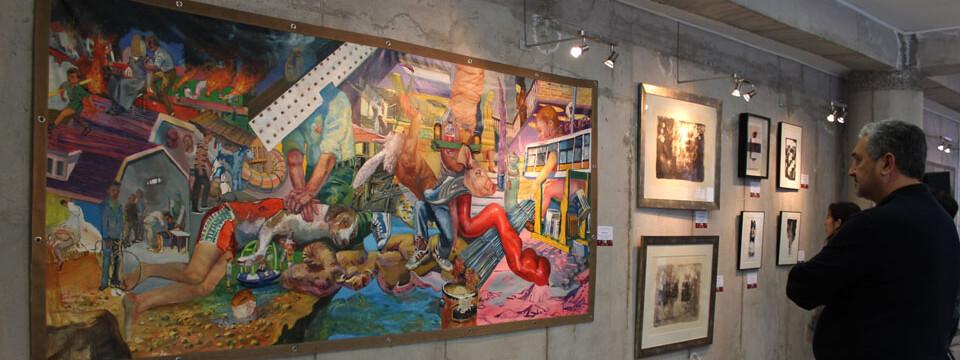 Exposición de académicos de la Facultad de Arte se inaugura en la UPLA