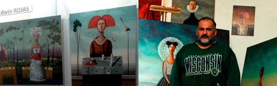 Artista Edwin Rojas expuso obras en Argentina