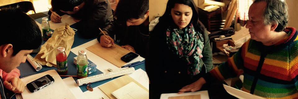 Académico UPLA desarrolla encuentro de grabado en liceo de Viña del Mar