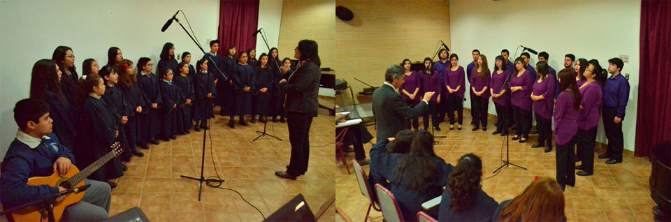 Coros de Cámara se presentaron en Temporada de Conciertos UPLA